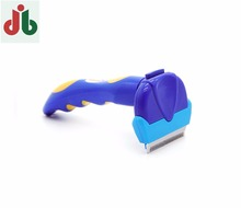 OEM accepted latest hot sale plastic pet grooming brush, deshedding tool