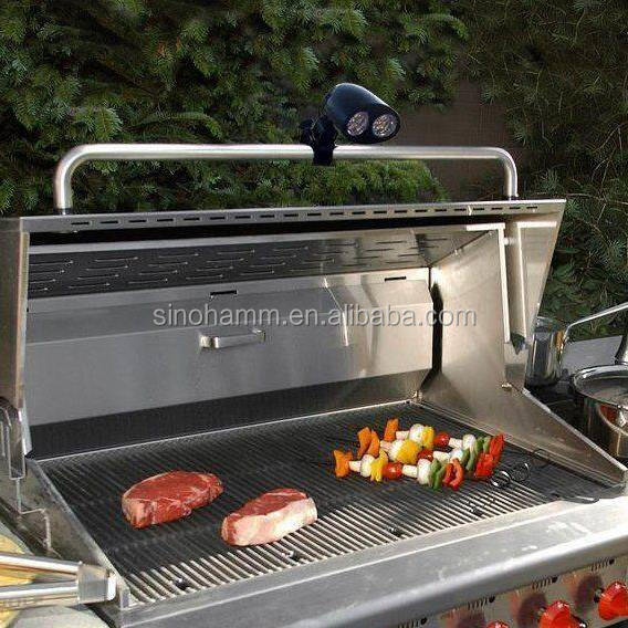 Heat Resistant Casing Metal Clamp 10 Led Bbq Grill Light