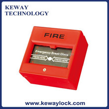 Break Glass Manual Call Point for Fire Alarm System, NO/NC/COM Output Contact, Fire Alarm Call Point