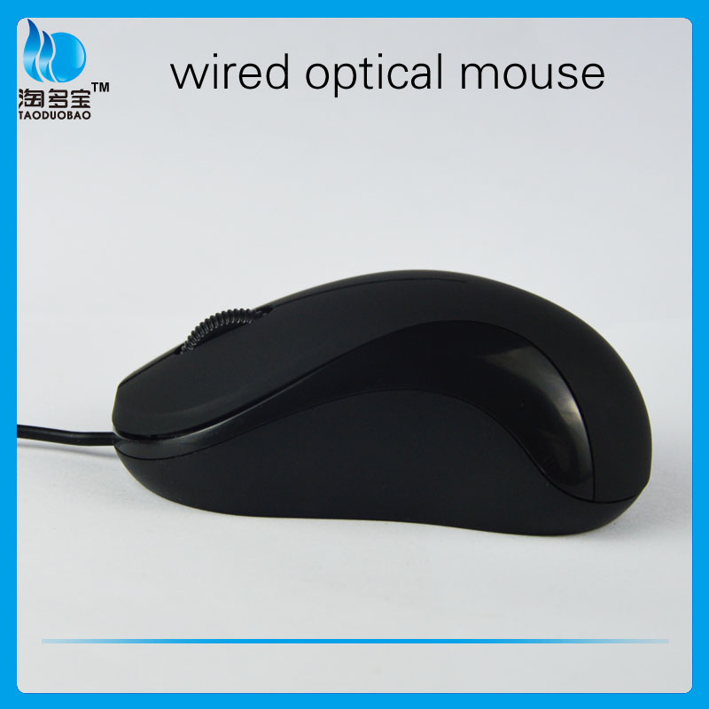 Factory ISO full black 3d wired drivers usb optical mouse