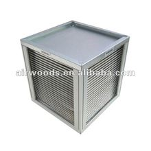 Aluminium 80% efficiency residential and home cross flow plate heat exchanger