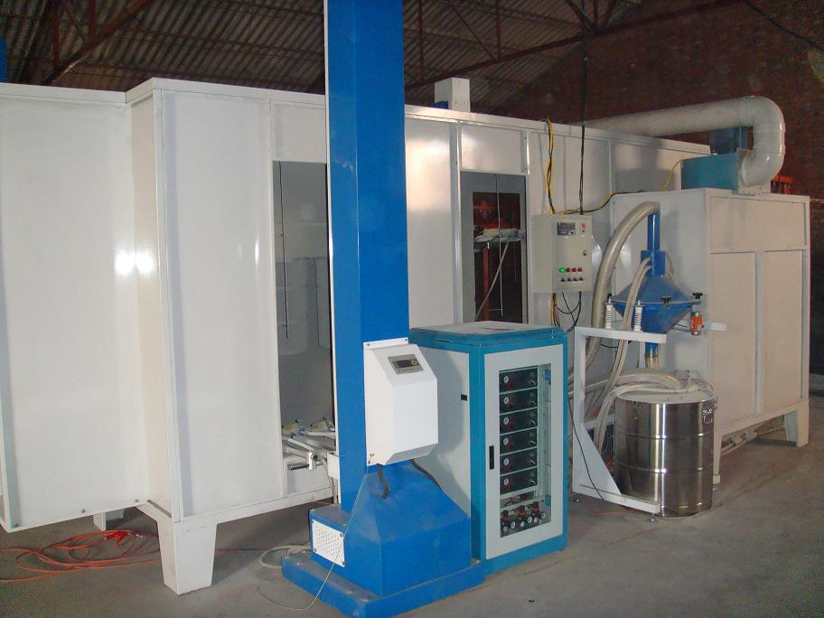 automatic powder coating line