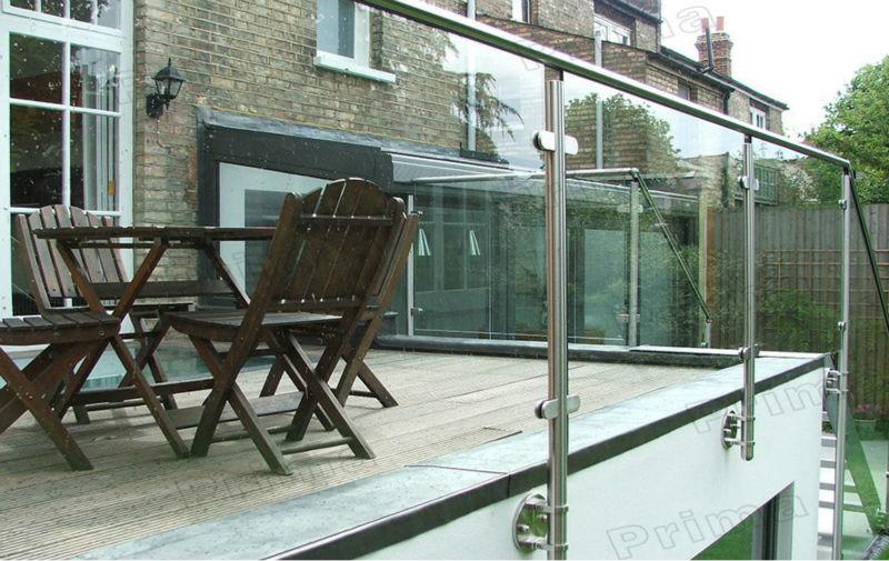 Glass Fixing Balustrade Spigots Interior Stairs Railing