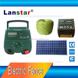 DC12V Solar battery charge electric fence energiser ,horse electric shock fence for farm