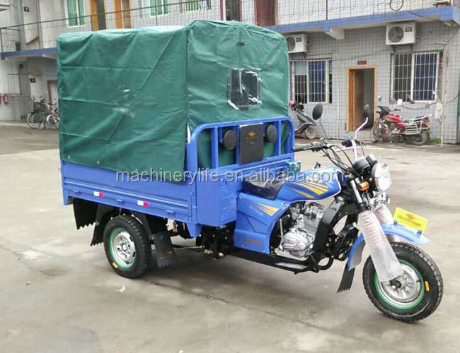 1.6 Meter Length Carriage 150cc Air Cool Engine Cargo Tricycle Motorcycle with Tarpaulin Cabin