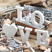 English letters wedding wood bead crafts wooden letters number marking frame Wall Decor Home Decor Wedding Photo Props