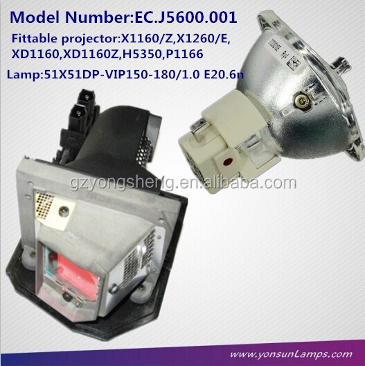 Original Projector lamp EC.J5600.001 for ACER X1160/Z,X1260/E