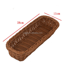 Kitchen table car using high quality sundries storage small snack food rattan baskets