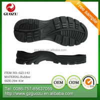 Hot rubber safety shoes soles for male