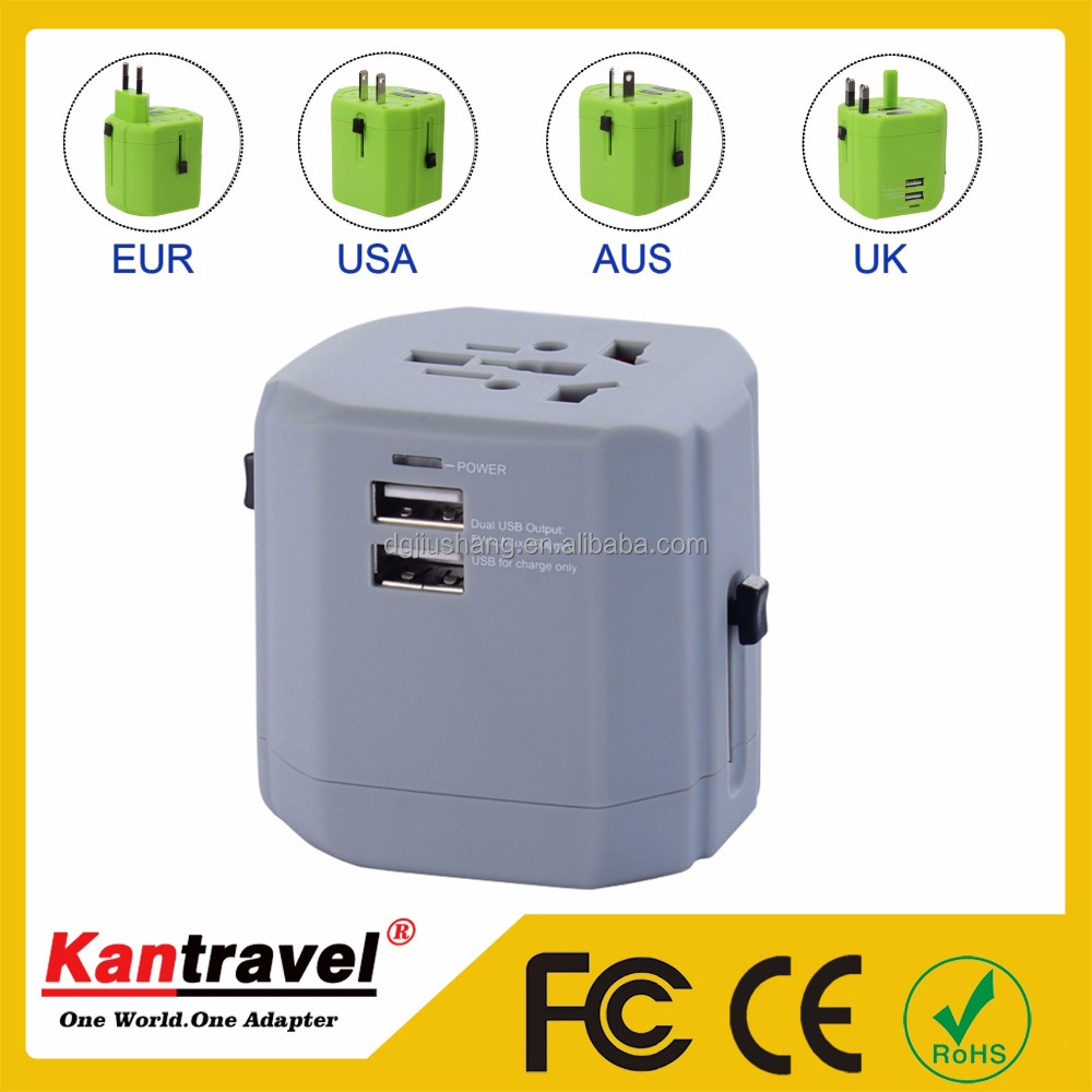 DongGuan 2017 New Fashion Patent Corporate <strong>Gift</strong>,Universal Travel USB Charger With Fully CEROHS For Wholesale Promotion