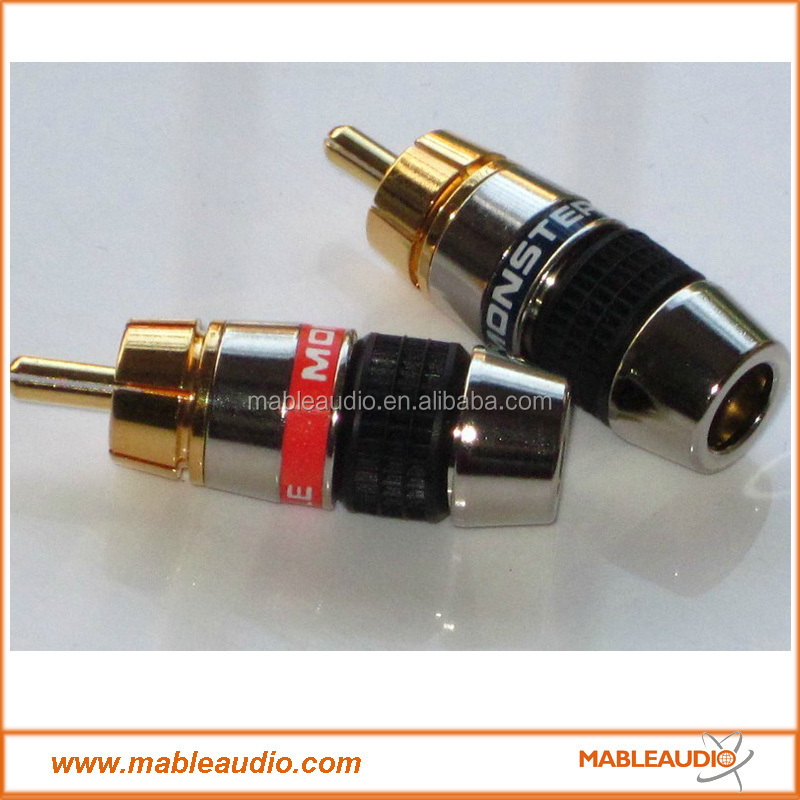 Pure Copper 24k Gold Plated Monster Rca Plug Connector - Buy Male ...