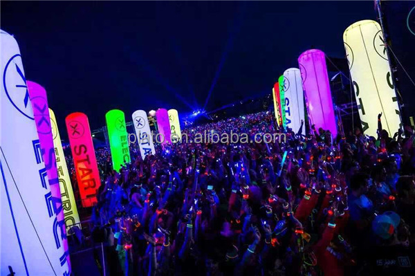 HOT sale inflatable lighting decorations inflatable led pillar for Outdoor Event decoration