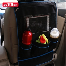 2016 New Cartoon Car Seat Kick Mat with Mesh Pocket
