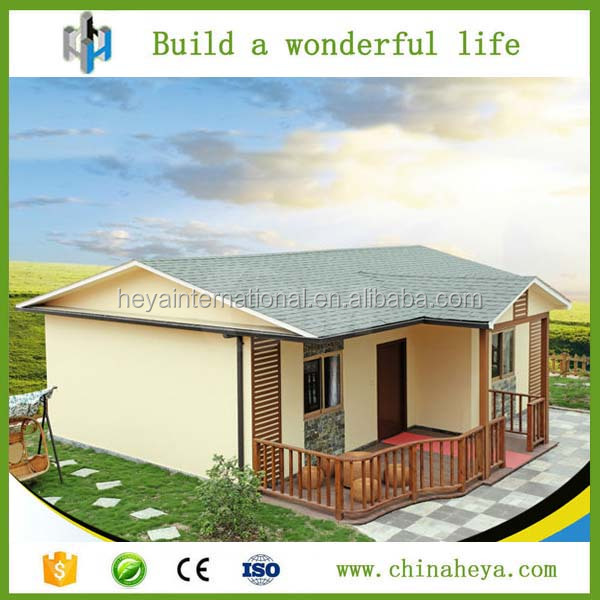 Pre made steel structure sandwich panel ASA cement durable house