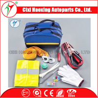China manufacturer car emergency tool kits with warning triangle