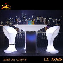 CE&ROHS approved illuminated cheap led lighting furniture/led table/led furniture led table led chairs
