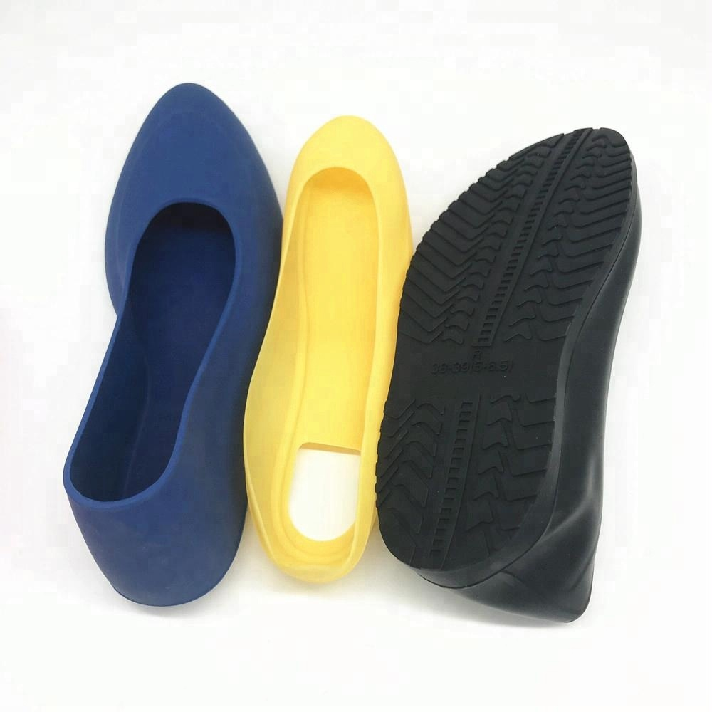 Custom Reusable anti slip silicone rubber rain shoes galoshes overshoes shoe covers Black rubber overshoes Canada
