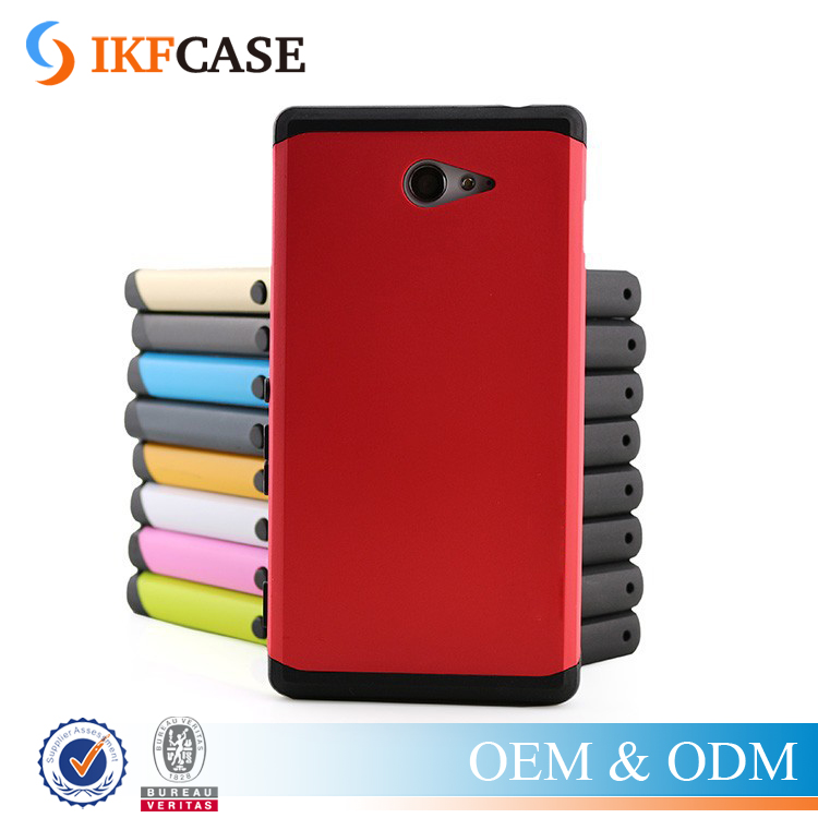 Moq 1pcs ! For Sony Xperia Z5 Dual Layer Silicone+Plastic Hybrid Premium Mobile Phone Case and Cover