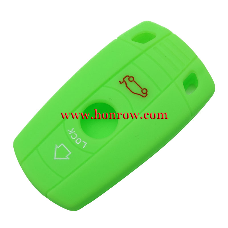 New arrival Colorful 3 button Silicone car key case for bmw 1,3,5,6,X5,x6,z4 series