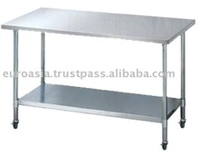 TABLE - STAINLESS STEEL WORKING TABLE WITH WHEELS