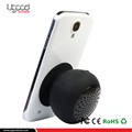 Promotional Black Round Bluetooth Speaker For Mobile Phones