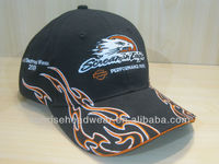 custom flame embroidery caps and hats