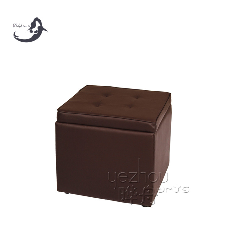Footrest Closing Lid Foldable Large Storage Ottoman