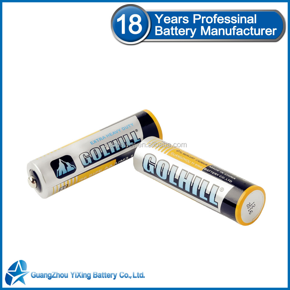 Size AA Non-rechargeable battery 1.5v r6 primary battery