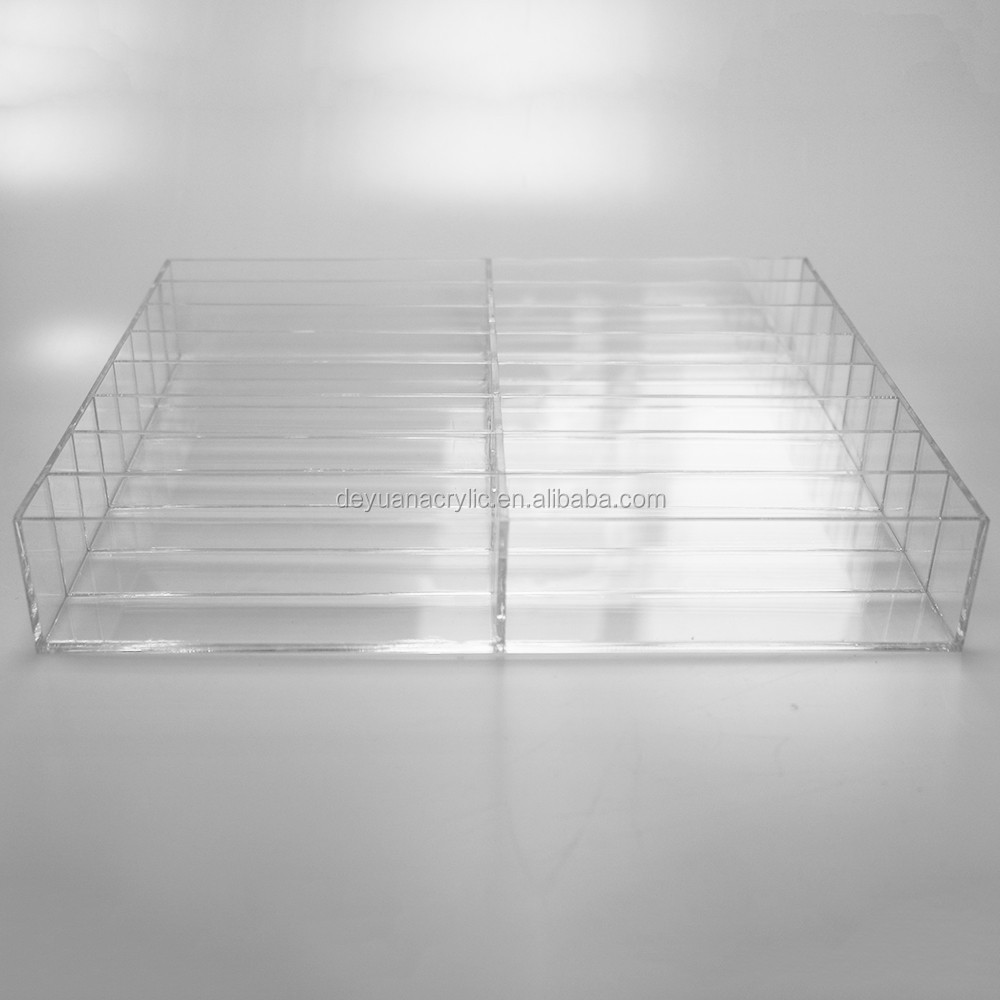 Acrylic Lipstick Desk Organizer Transparency Plexiglass Box