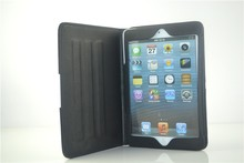 2015 business style leather folio stand tablets case for ipad mini