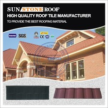 best sale architectural brown stone coated metal roofing tiles/shingles in guangdong