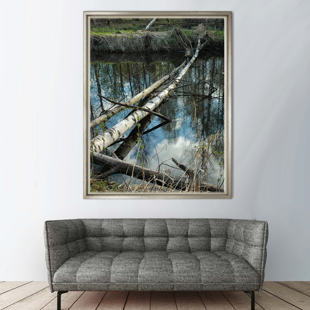 Printing Services Custom Single Plank Bridge Scenery Art Picture for Decor House