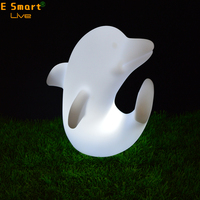 Rechargeable hotel led decoration light desk lamp / solar dolphin light led table lamp/fashionable led lamp
