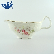 Manufacturers supply cheap price new bone handle ceramic white personalized gravy boat