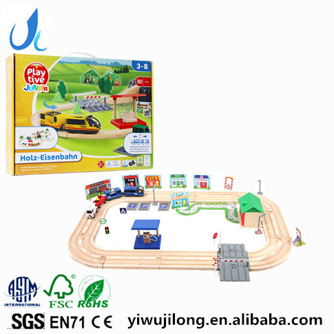 wooden electric train track suits wooden train track toys wooden educational toys for kids