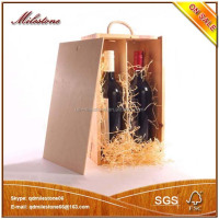 TWO BOTTLE Wine Storage Box Wooden Wooden Gift Box For Package Red Wine