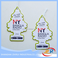 2016 hot sale wholesale Christmas tree car air freshener