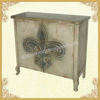 Distressed wood hutch with for Home storage