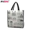 Custom cheap reusable pp non woven tote bags
