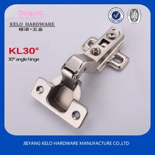 Special opening 30 degree angle hinge