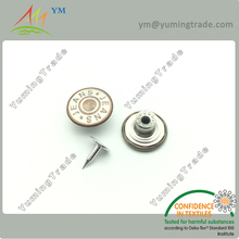 Metal shank brass jeans button