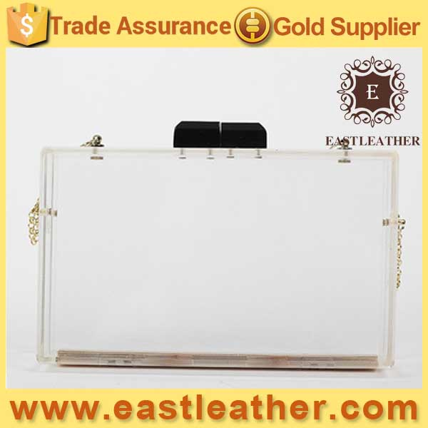 N288 Guangzhou wholesales acrylic evening bag acrylic box purse frame transparent clutches
