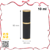 10ml Delicate Black Leather Wrapped Cylinder