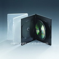 14mm Long DVD Case Black Double DVD Case 3 Disc DVD Case