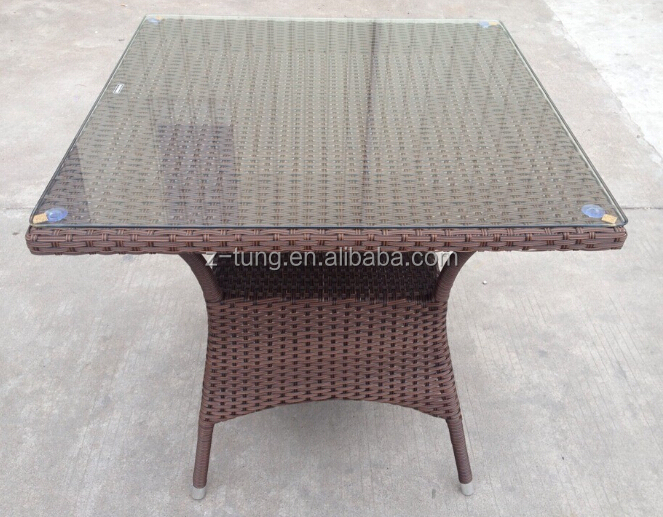 ZT-1082CT all weather rattan cafe table chair set