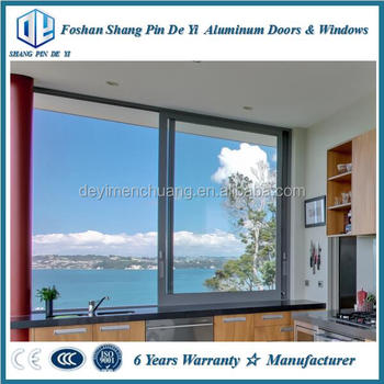 aluminium window frame and glass design sliding type