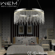 2017 new products hotel LED decoration lighting round crystal chandeliers light with CE,UL,SAA