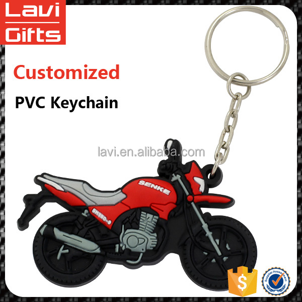 Promotion custom motorcycle soft pvc keychain