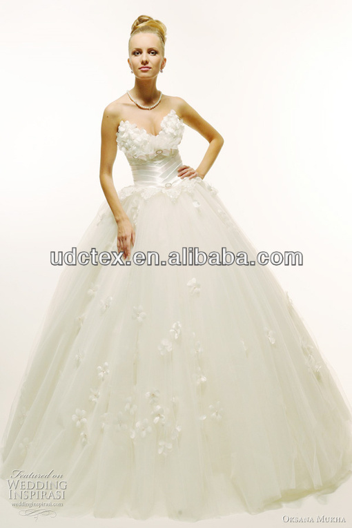 Polyester Embroideried Organza for Wedding Dress