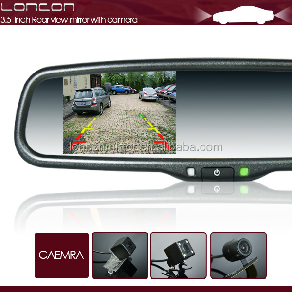 3.5'' inch high brightness screen smart car digital auto dimming rear view mirror with reverse car camera for high honda city